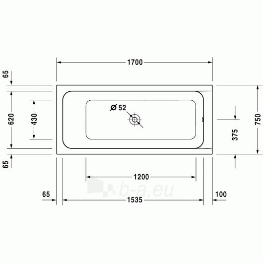 Vonia Duravit D-Code 170x75 Paveikslėlis 3 iš 5 270716000791