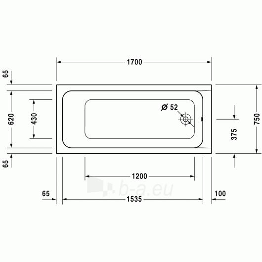 Vonia Duravit D-Code 170x75 Paveikslėlis 4 iš 5 270716000791