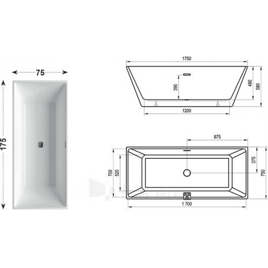 Vonia Freedom R 175X75 cm Paveikslėlis 2 iš 4 270716001272