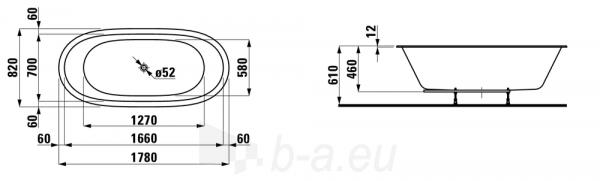 Vonia Laufen Ilbagnoalessi One 178 cm Paveikslėlis 2 iš 2 310820254299