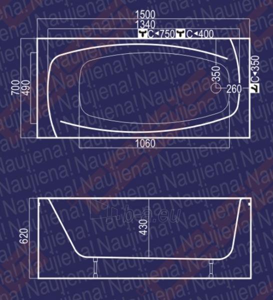 Vonia Lina 150x70x62 Paveikslėlis 3 iš 3 270716000386
