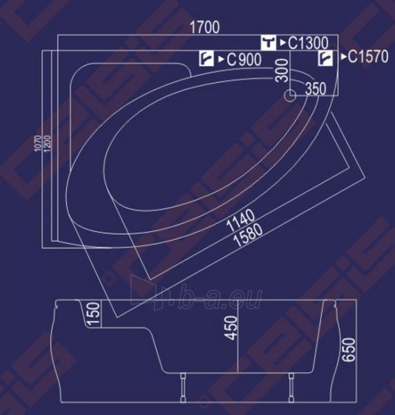 Vonia Milda 170x120x65 kairė Paveikslėlis 3 iš 3 270716000388