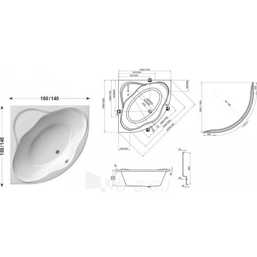 Vonia NewDay 140X140, 150X150cm Paveikslėlis 4 iš 5 270716001276
