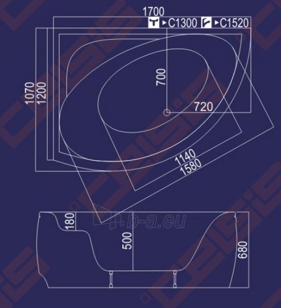 Vonia Nida 170x120x68 dešinė Paveikslėlis 3 iš 3 270716000395