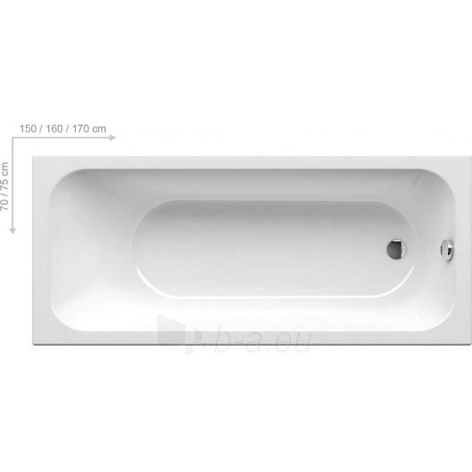 Vonia Ravak Chrome160x70 Paveikslėlis 2 iš 3 270716000814