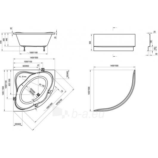 Vonia Ravak NewDay 140x140 Paveikslėlis 2 iš 4 270716000820