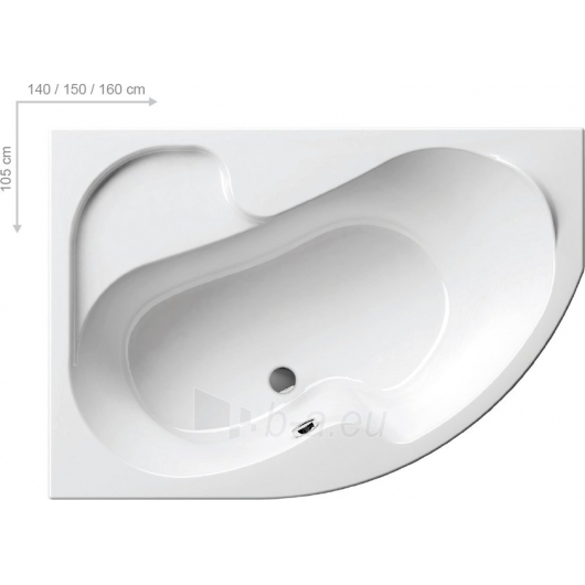 Vonia Ravak Rosa I 150x105 L/R Paveikslėlis 5 iš 5 270716000834