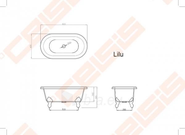 Vonia VISPOOL Lilu 80x42,5 cm Paveikslėlis 5 iš 5 270716001212