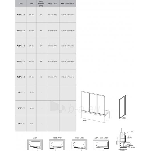 Vonios durys AVDP3 Paveikslėlis 1 iš 2 270717001195