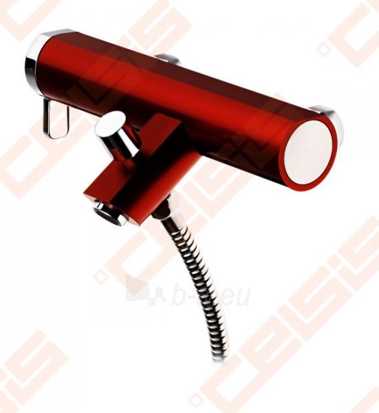 Vonios/dušo maišytuvas GUSTAVSBERG Coloric, raudonas Paveikslėlis 1 iš 2 270725000428