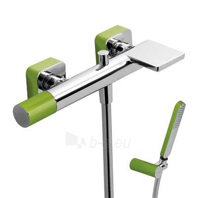 Vonios/dušo maišytuvas LOFT Colors su dušo komplektu, žalia/chromas Paveikslėlis 1 iš 2 310820163722