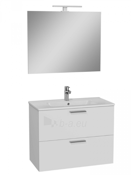 Vonios kambario baldų komplektas Vitra Mia, 80 cm baltas Paveikslėlis 1 iš 1 310820230492