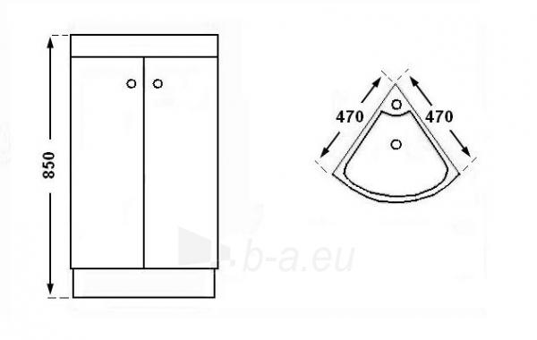 Vonios kambario spintelė su praustuvu C506 Paveikslėlis 2 iš 7 30057400200