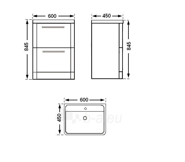 Vonios kambario spintelė su praustuvu C602F (be veidrodžio) Paveikslėlis 2 iš 6 30057400203