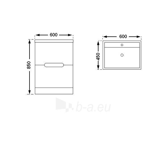 Vonios kambario spintelė su praustuvu F602FS (be veidrodžio) Paveikslėlis 2 iš 3 30057400211