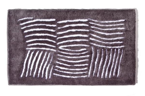 Vonios kilimėlis Ethna 60x100cm, dark grey Paveikslėlis 1 iš 1 310820085590