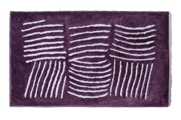 Vonios kilimėlis Ethna 60x100cm, plum Paveikslėlis 1 iš 1 310820085591