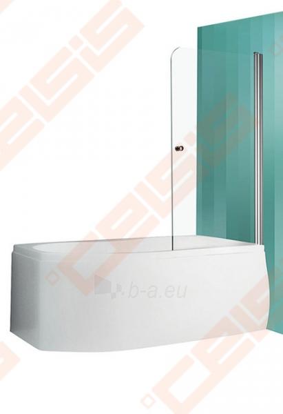 Vonios sienelė ROLTECHNIK TV1/80 su sidabro profiliu ir skaidriu stiklu, dešinė Paveikslėlis 1 iš 6 270717001181