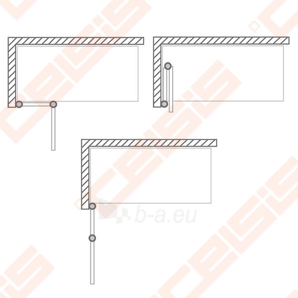 Vonios sienelė ROLTECHNIK TZVL2/1200 su specialia lankstų sistema, brillant profiliu ir skaidriu stiklu Paveikslėlis 3 iš 7 270717001183