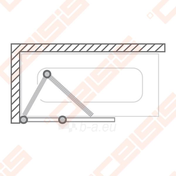 Vonios sienelė ROLTECHNIK TZVL2/1200 su specialia lankstų sistema, brillant profiliu ir skaidriu stiklu Paveikslėlis 4 iš 7 270717001183