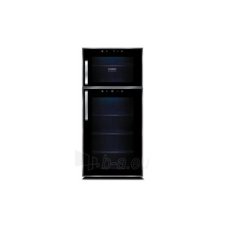 Vīna ledusskapis Caso Wine Duett Touch 21, par 21 pudelēm, sensoru vadība, melns Paveikslėlis 1 iš 1 250116002630