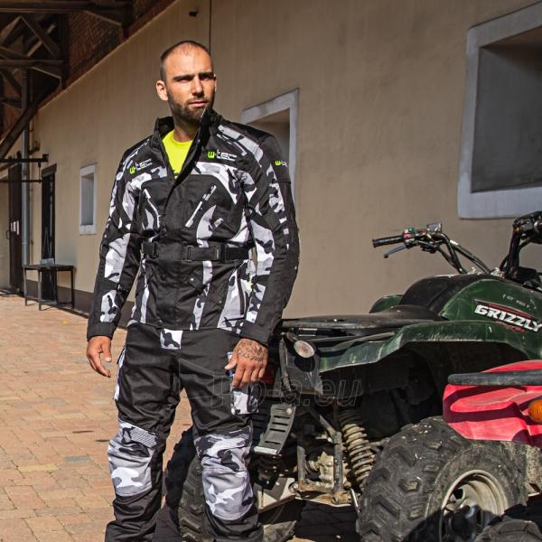 Vyriška moto striukė su apsaugomis W-TEC Troopa Paveikslėlis 3 iš 13 310820218045