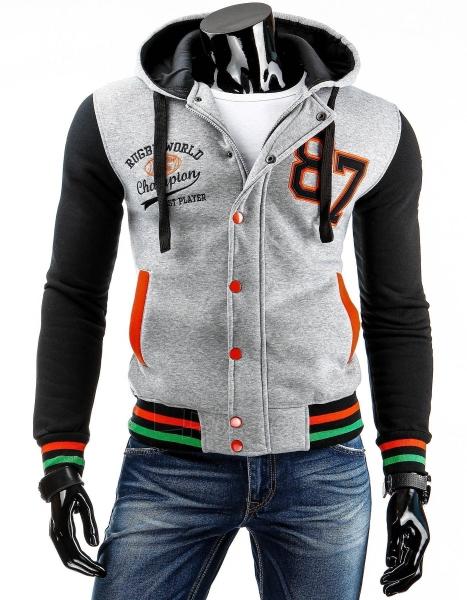 Vyriškas džemperis 87 (Pilkas) Paveikslėlis 1 iš 6 310820030766