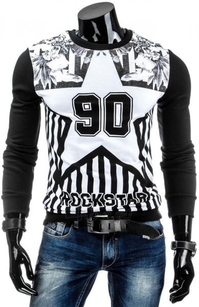 Vyriškas džemperis 90 (Juodas/Baltas) Paveikslėlis 1 iš 6 310820030907