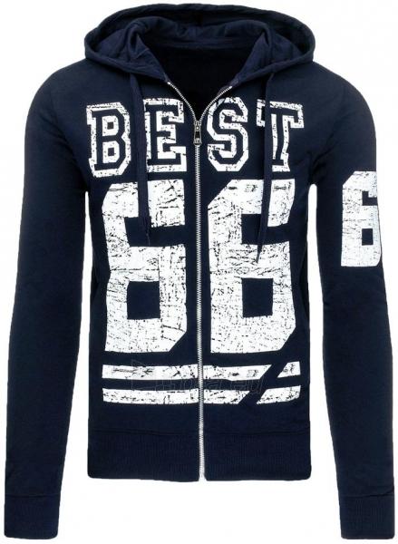 Vyriškas džemperis B66 (Tamsiai mėlynas) Paveikslėlis 1 iš 7 310820031939