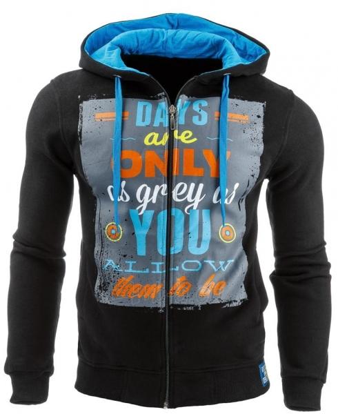 Vyriškas džemperis Days are only(Juodas) Paveikslėlis 1 iš 1 310820031608