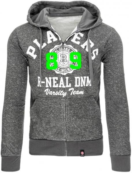 Vyriškas džemperis DNM (Antracitas) Paveikslėlis 1 iš 7 310820030955