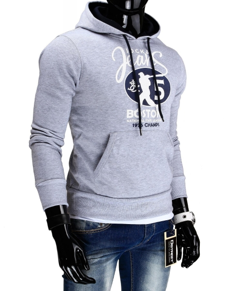 Vyriškas džemperis džinsinė (Pilkas) Paveikslėlis 1 iš 6 310820043553