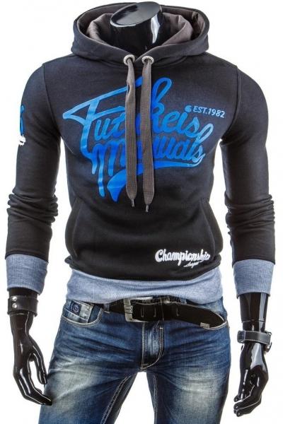 Vyriškas džemperis EST1982 (Juodas) Paveikslėlis 1 iš 6 310820043455