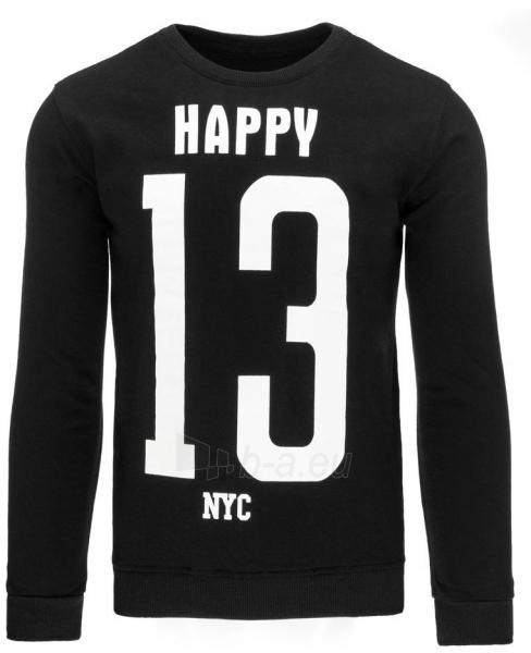Vyriškas džemperis Happy (Juodas) Paveikslėlis 1 iš 7 310820034953