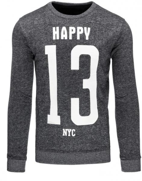 Vyriškas džemperis Happy (Pilkas) Paveikslėlis 1 iš 7 310820031036