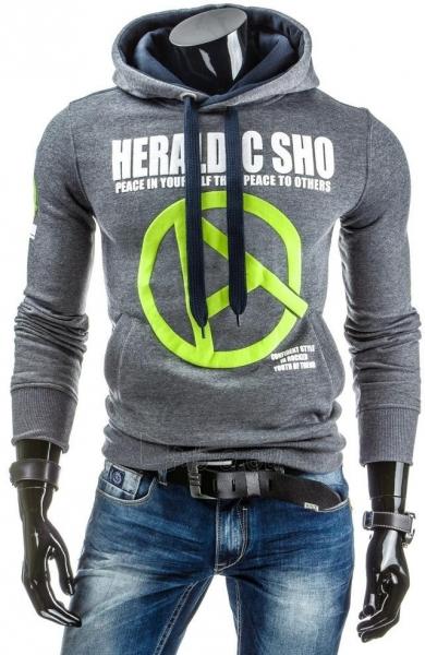 Vyriškas džemperis Heraldic (Antracitas) Paveikslėlis 1 iš 6 310820030896