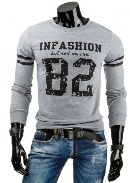 Vyriškas džemperis In Fashion (Pilkas) Paveikslėlis 1 iš 6 310820031452