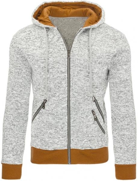 Vyriškas džemperis Justin (Pilkas/Rudas) Paveikslėlis 1 iš 7 310820030840