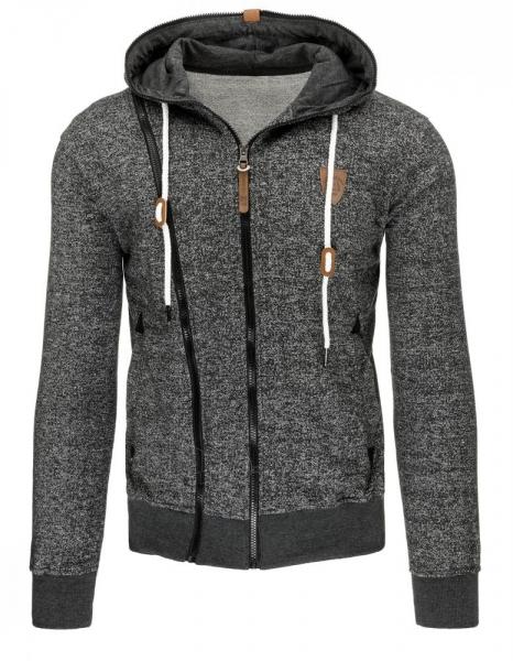 Vyriškas džemperis Justy (Tamsiai pilkas/Juodas) Paveikslėlis 1 iš 7 310820030843
