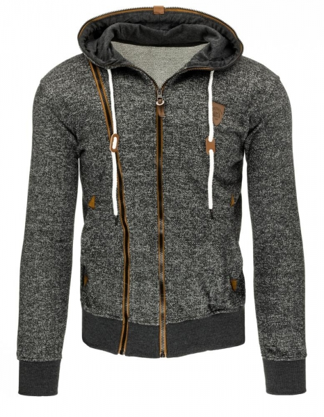 Vyriškas džemperis Justy (Tamsiai pilkas/Rudas) Paveikslėlis 1 iš 7 310820030841