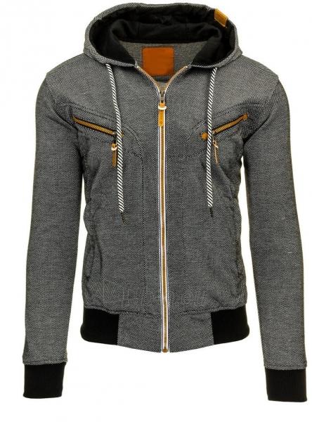 Vyriškas džemperis Kevil (Juodas) Paveikslėlis 1 iš 2 310820043645