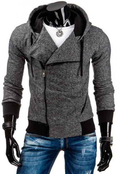 Vyriškas džemperis Leo (Juodas) Paveikslėlis 1 iš 6 310820042353