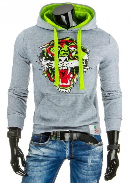 Vyriškas džemperis Lion (Pilkas) Paveikslėlis 1 iš 6 310820032150