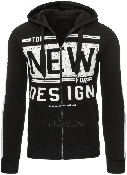 Vyriškas džemperis NEW for DESIGN (Juodas) Paveikslėlis 1 iš 7 310820031495