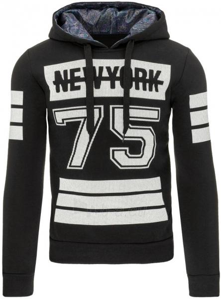 Vyriškas džemperis New York 75 (Juodas) Paveikslėlis 1 iš 7 310820031465