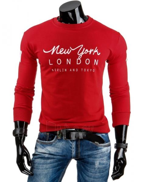 Vyriškas džemperis NY LONDON BERLIN AND TOKYO (Raudonas) Paveikslėlis 1 iš 6 310820036960