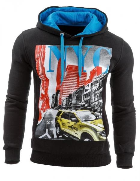 Vyriškas džemperis NYC (Juodas) Paveikslėlis 1 iš 1 310820031591