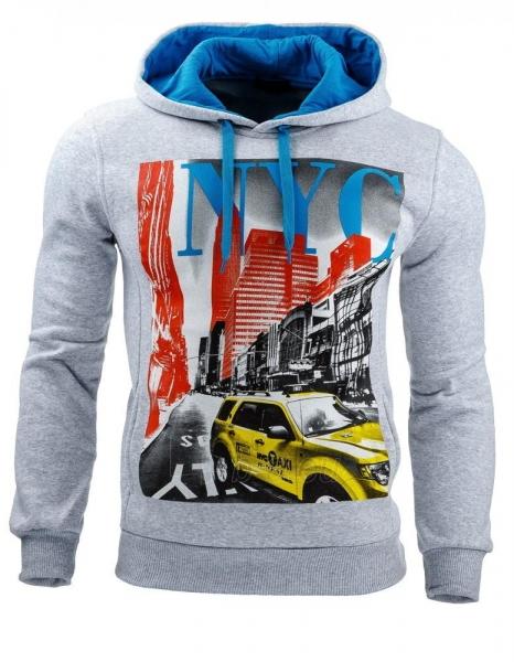 Vyriškas džemperis NYC (Pilkas) Paveikslėlis 1 iš 1 310820031592