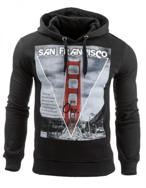 Vyriškas džemperis San francisco (Juodas) Paveikslėlis 1 iš 1 310820031603