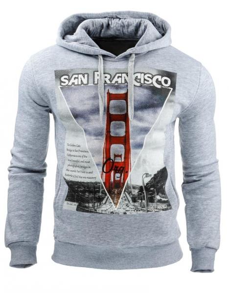 Vyriškas džemperis San francisco (Pilkas) Paveikslėlis 1 iš 1 310820031601